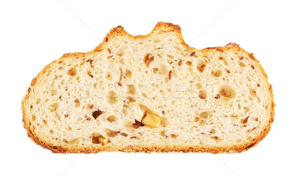 Fehér kenyér szelet diók pörkölt napraforgó magok Stock fotó © PetrMalyshev