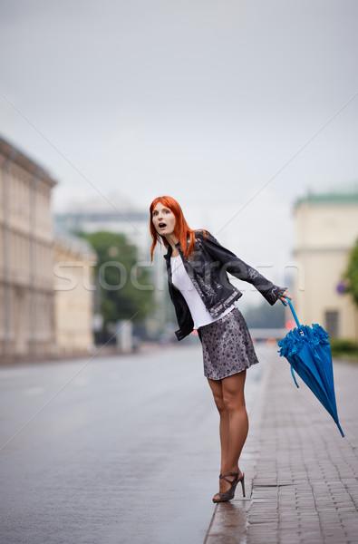 Girls Waiting a Bus Stock photo © PetrMalyshev