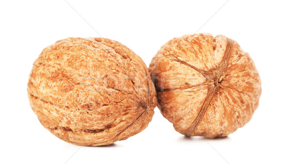 Two Walnuts In A Shell Stock photo © PetrMalyshev