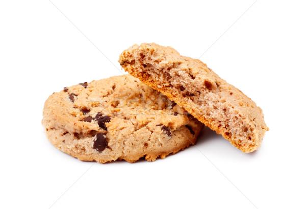 ストックフォト: オートミール · チョコレート · チップ · クッキー · 孤立した · 白