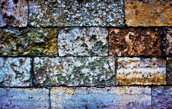 colored brick wall Stock photo © PetrMalyshev
