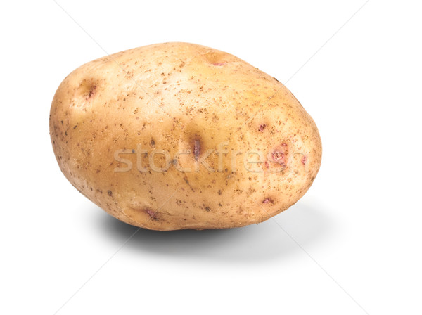 Stock photo: single potato in peel