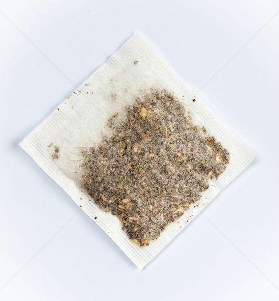herbal tea bag laying on table Stock photo © PetrMalyshev