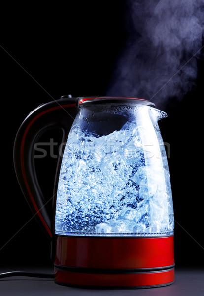 Elektromos bogrács üveg víz fekete füst Stock fotó © PetrMalyshev
