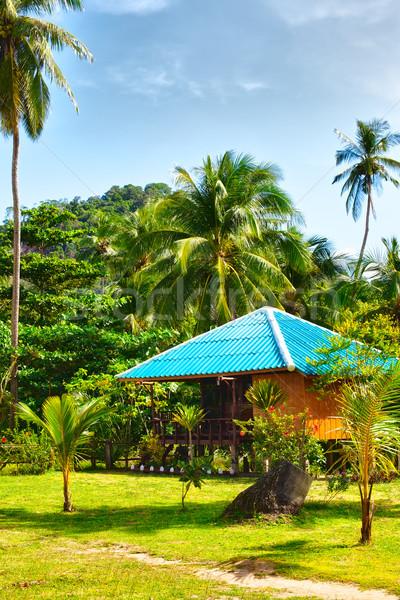 Tropicali resort bella bungalow giungla krabi Foto d'archivio © PetrMalyshev