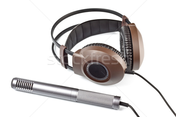 headphones and vocal microphone Stock photo © PetrMalyshev