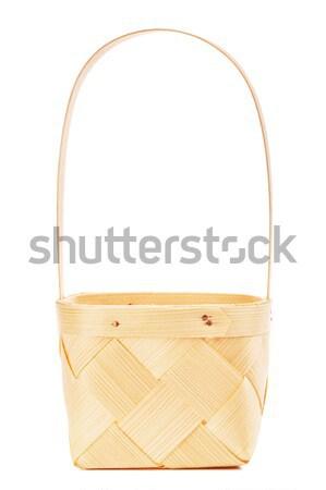 ニレ 木製 バスケット 空っぽ 孤立した ストックフォト © PetrMalyshev