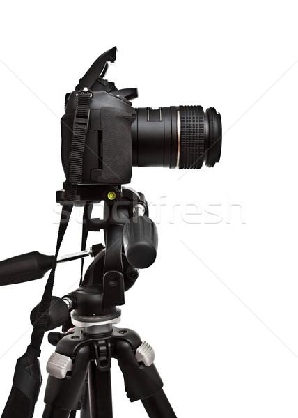 dslr camera on tripod Stock photo © PetrMalyshev