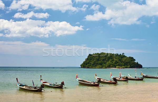 Thai Long Boats Stock photo © PetrMalyshev