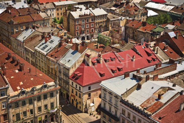 Lviv at summer, view from city hall Stock photo © PetrMalyshev