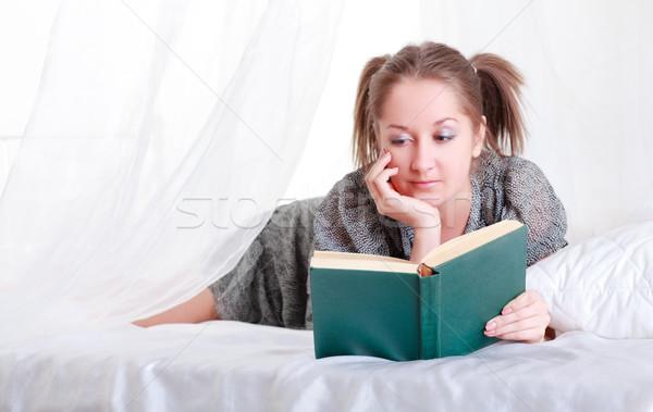 Girl Reading A Book Stock photo © PetrMalyshev