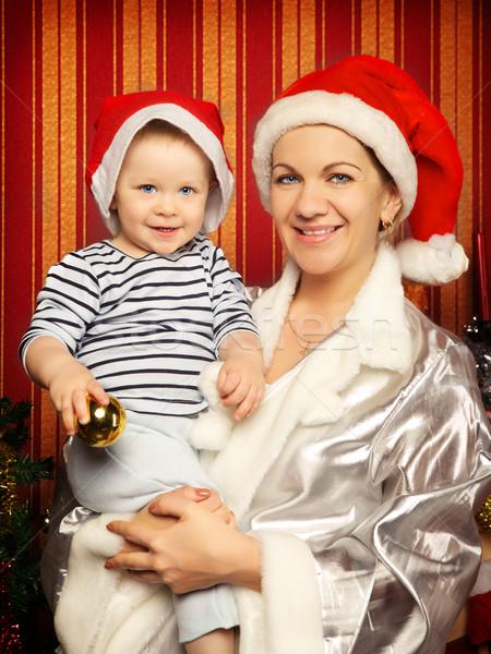 Anne bebek Noel üç ayakta sonraki Stok fotoğraf © PetrMalyshev