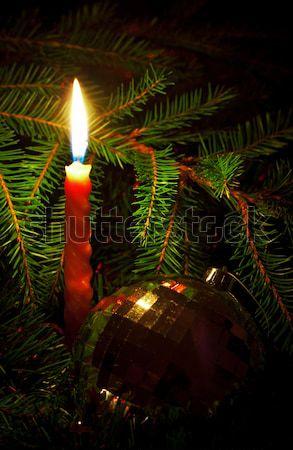 свечу ель любви красный Сток-фото © PetrMalyshev