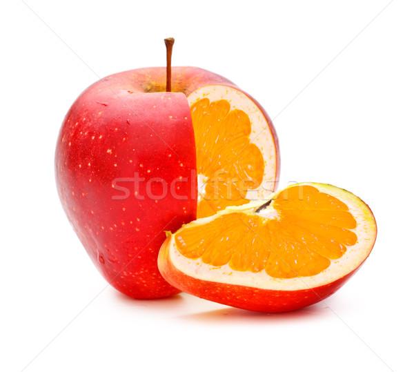 Mela rossa arancione alimentare frutta giardino Foto d'archivio © PetrMalyshev