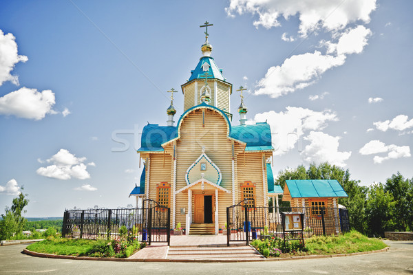Wooden Church Stock photo © PetrMalyshev