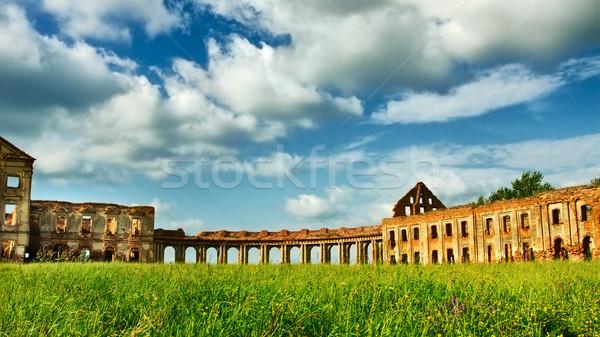 古代 遺跡 城 ベラルーシ 空 フレーム ストックフォト © PetrMalyshev