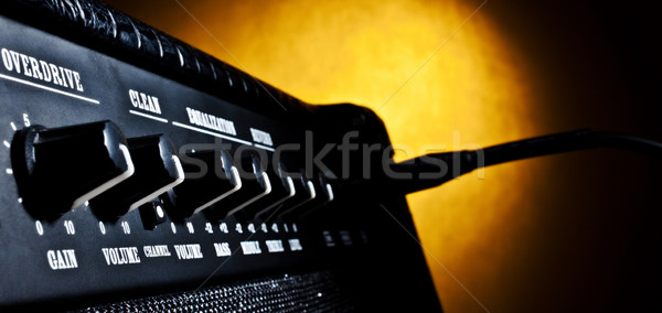 combo amplifier panel closeup Stock photo © PetrMalyshev