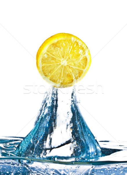 Lemon In Water Splash Stock photo © PetrMalyshev