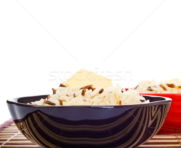 Bowls Of Cooked Rice Stock photo © PetrMalyshev