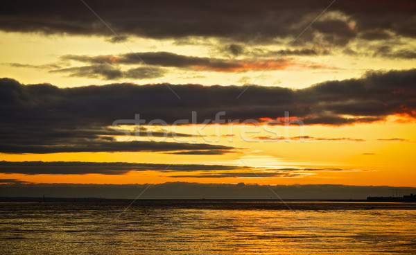 морем закат красивой природы пейзаж фон Сток-фото © PetrMalyshev