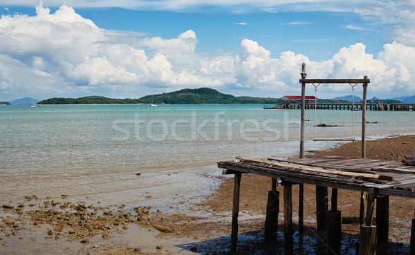 Küçük iskele eski salıncak ada krabi Stok fotoğraf © PetrMalyshev