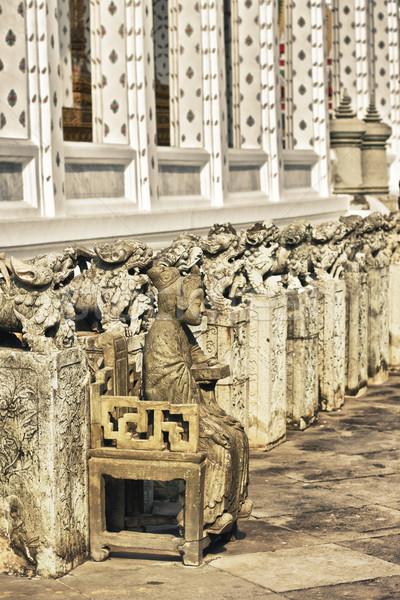 статуя каменные Бангкок Таиланд женщину искусства Сток-фото © PetrMalyshev