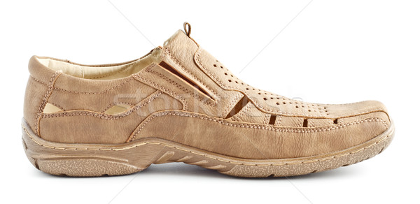 Beige Suede Shoe Stock photo © PetrMalyshev