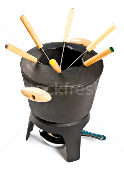 cast iron fondue set Stock photo © PetrMalyshev