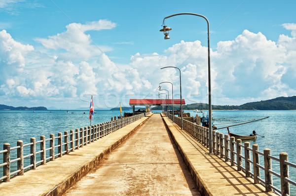 Muelle isla krabi Tailandia cielo paisaje Foto stock © PetrMalyshev