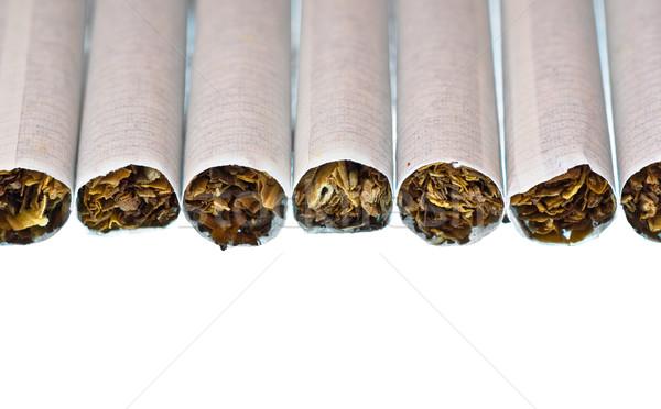 cigarette row Stock photo © PetrMalyshev