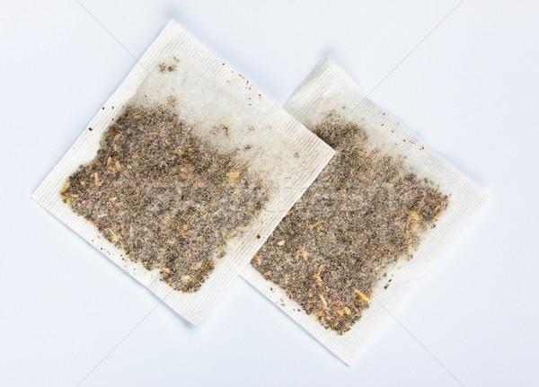 herbal tea bags laying on table Stock photo © PetrMalyshev