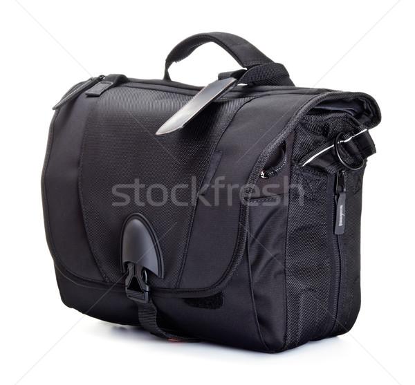 black bag for photo accessories Stock photo © PetrMalyshev