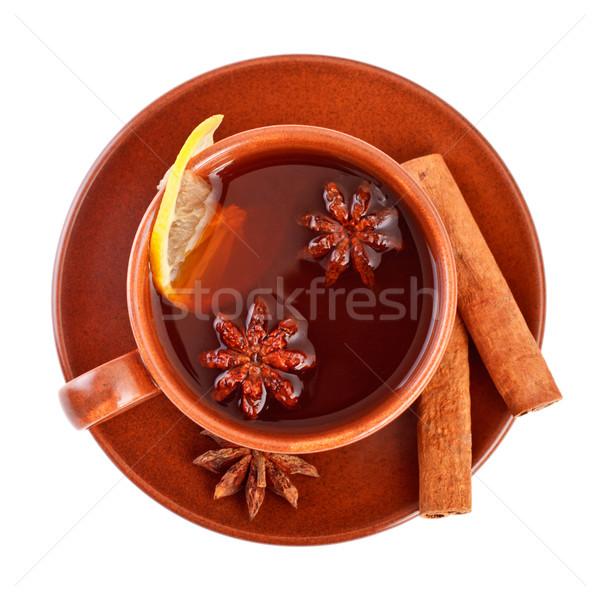 чай корицей звездой анис Кубок продовольствие Сток-фото © PetrMalyshev