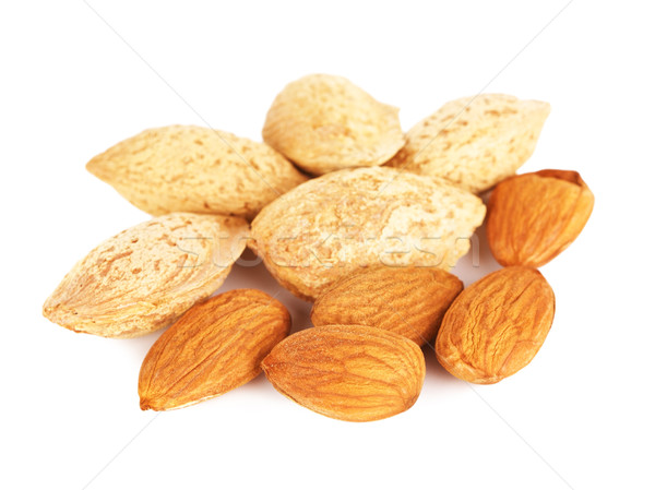 Almonds Peeled And Unpeeled Stock photo © PetrMalyshev
