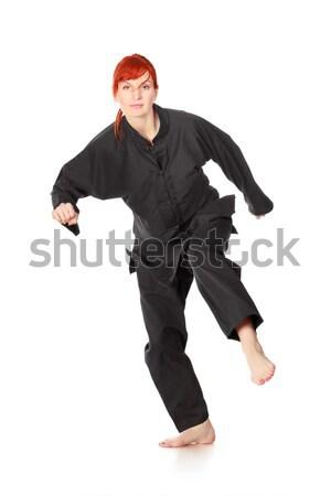 Wushu Woman Run Stock photo © PetrMalyshev