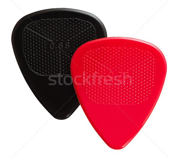 two ribbed guitar plectrums Stock photo © PetrMalyshev