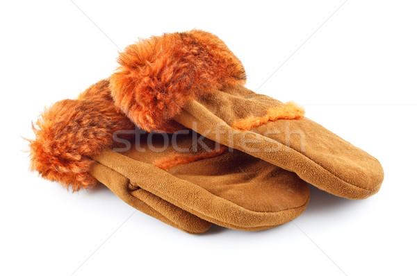 Fur Mittens Stock photo © PetrMalyshev