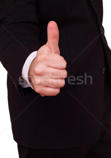 Empresário aprovação gesto negócio homens Foto stock © PetrMalyshev