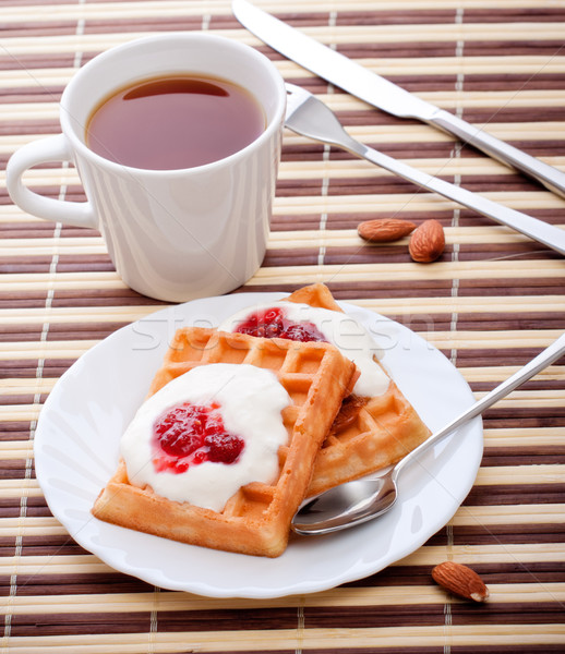 dessert with soft waffle Stock photo © PetrMalyshev