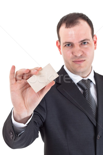 businessman show blank card Stock photo © PetrMalyshev