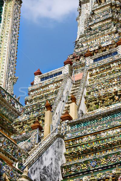Merdiven tapınak şafak Bangkok Tayland arka plan Stok fotoğraf © PetrMalyshev