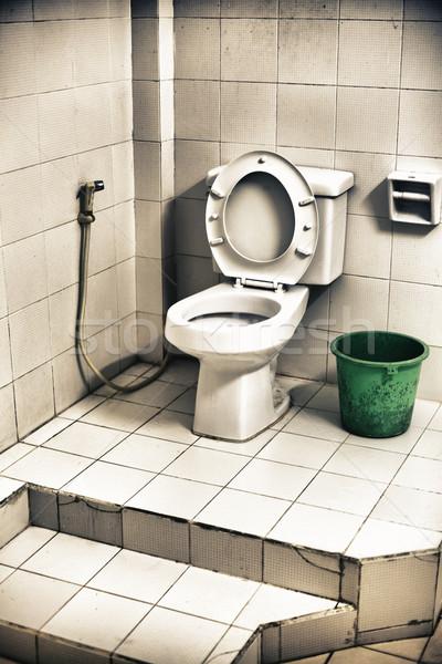 Stockfoto: Vuile · toilet · oude · schaal · verschrikkelijk · kamer