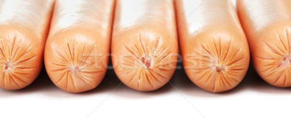 Fresh Sausages Stock photo © PetrMalyshev