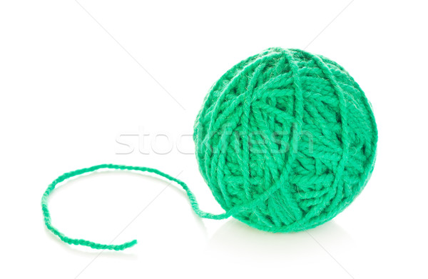 Green Yarn Ball Stock photo © PetrMalyshev