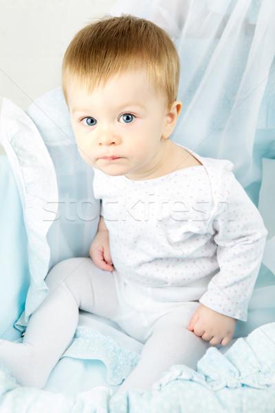 Child in Cradle Stock photo © PetrMalyshev