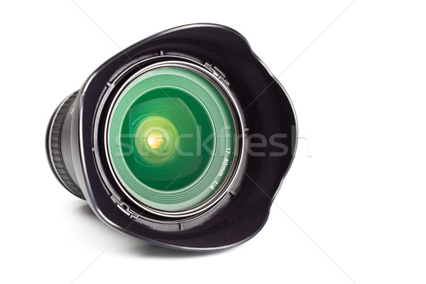 wide angle zoom lens with hood Stock photo © PetrMalyshev