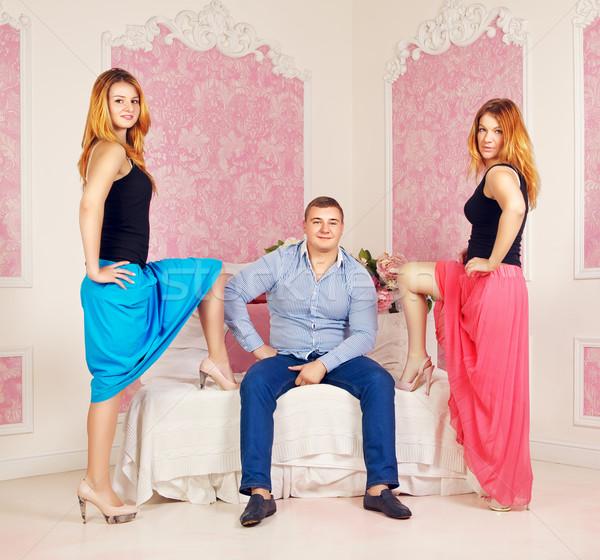 Love Triangle Stock photo © PetrMalyshev