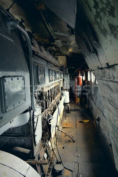 Vintage elektrische locomotief interieur sovjet- binnenkant Stockfoto © PetrMalyshev