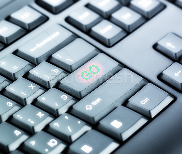 Keyboard with GO Button Stock photo © PetrMalyshev