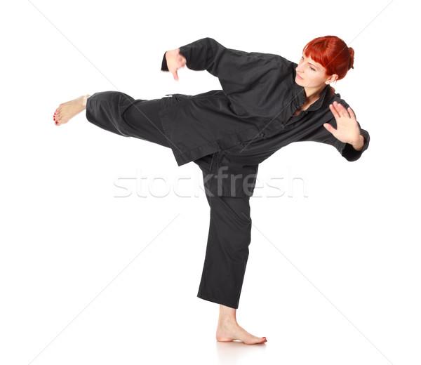 Wushu Woman Stock photo © PetrMalyshev